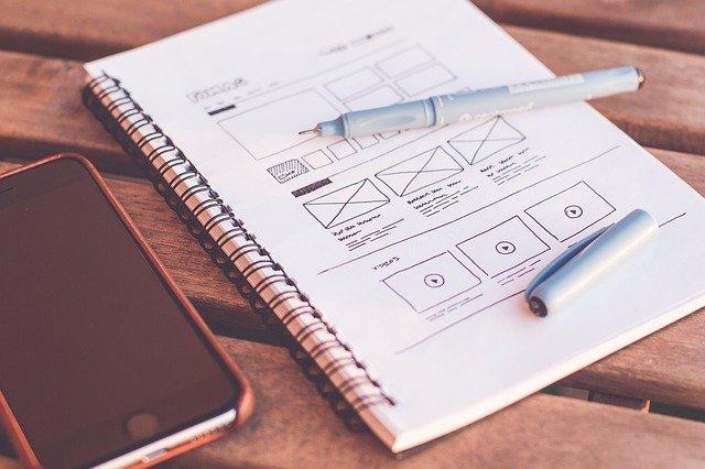 WEBサイトのデザインカンプ
