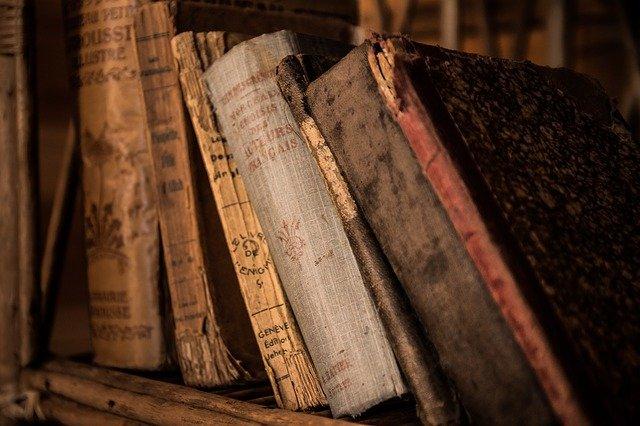 本棚に並んだ古本